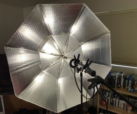 DIY Cardboard Umbrella Light for Photography & Film Made From Old Umbrella