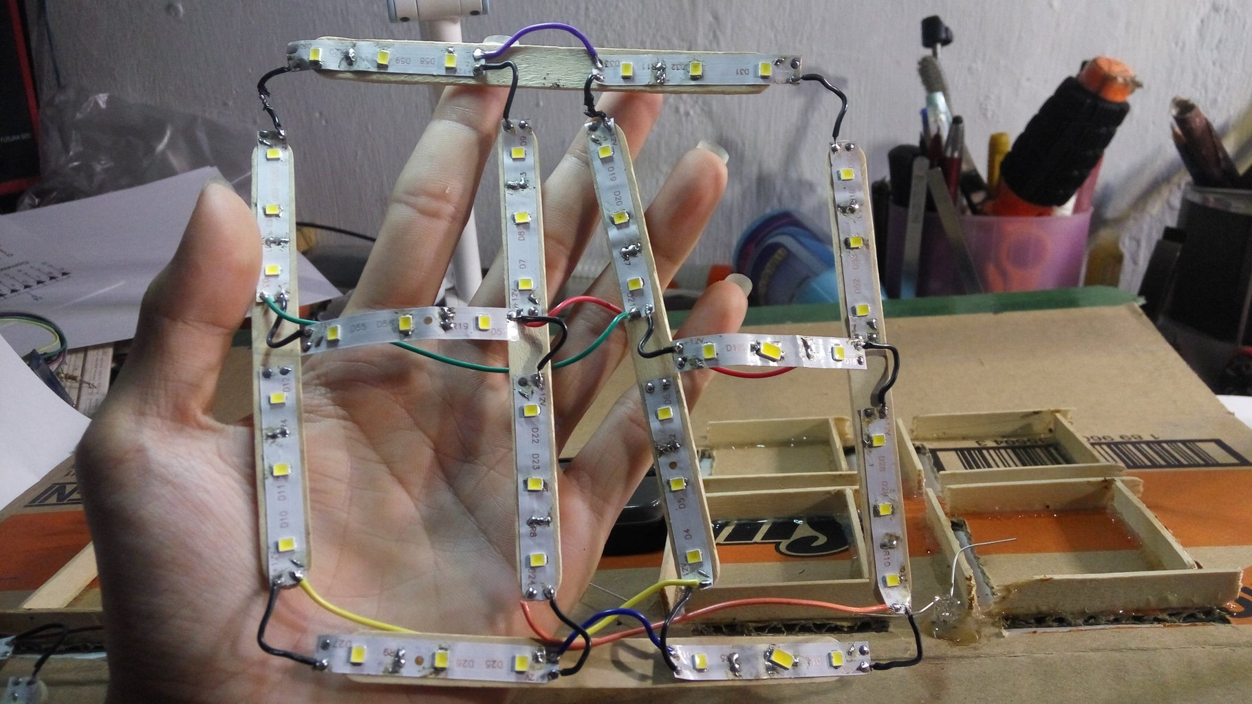 Wiring Up the LEDs First!