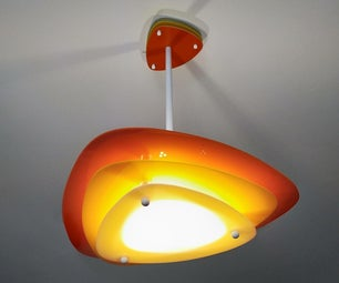 Easy to Make Mid Century Modern Chandelier