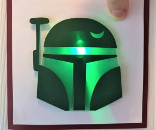 Light Up Greeting Card: Star Wars Edition