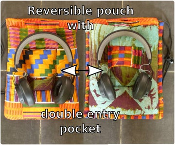 Reversible Pouch With Double-entry Pocket