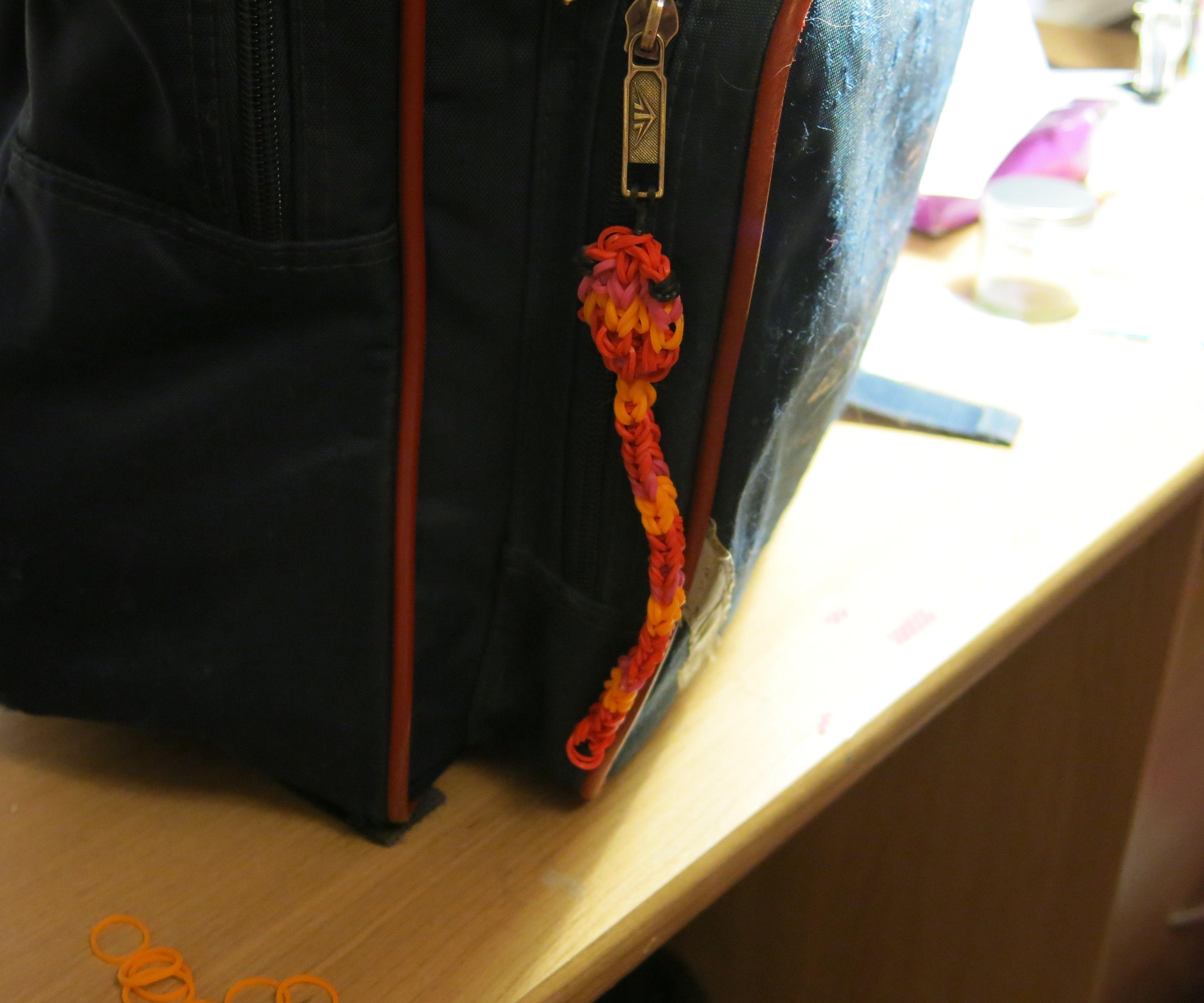 Loom Band Snake (bag accessory/bracelet)