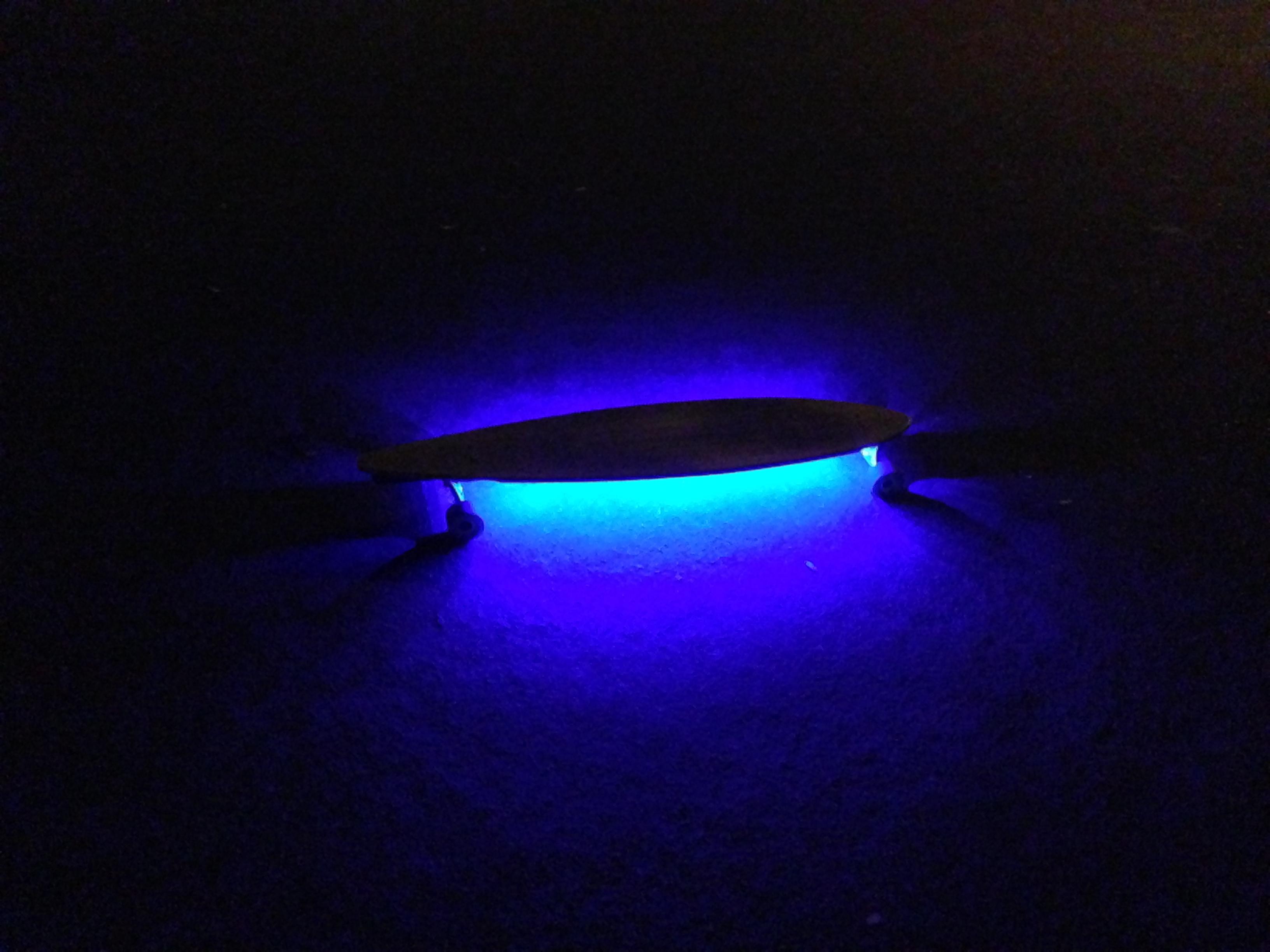 Neon Under Glow Long Board