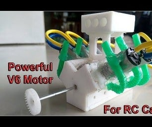 V6 Motor for RC Cars and Boats