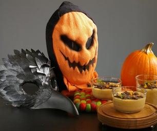 Vegan Pumpkin Pudding With Coconut Milk - Halloween Edition -