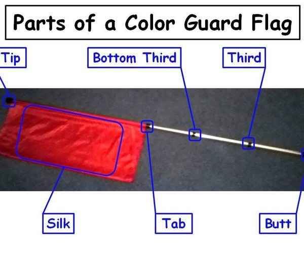 How to Tape a Color Guard Flag