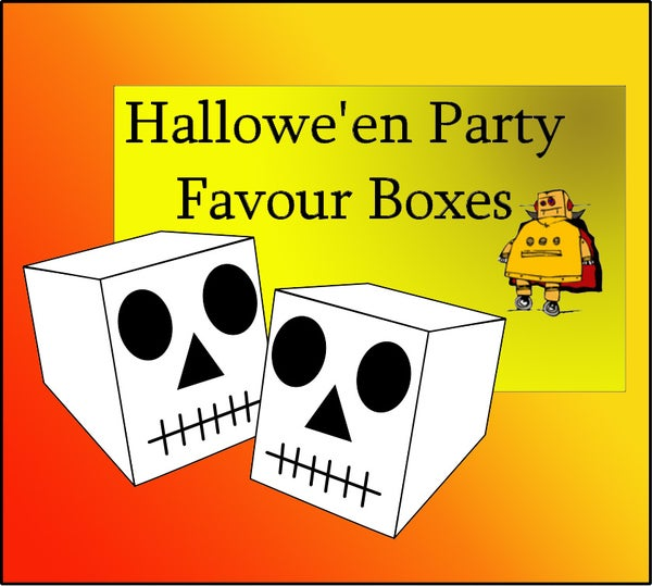 Halloween Skull Party Favour Box