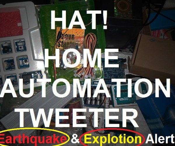 Sensor Based Disaster Monitoring Via Twitter Alerts!