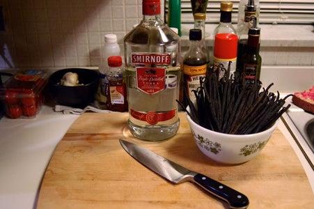 Sanitize, Slice, Pour.