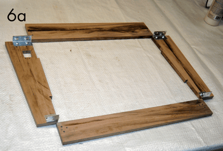 Attach Braces to Sides; Assemble the Frame.