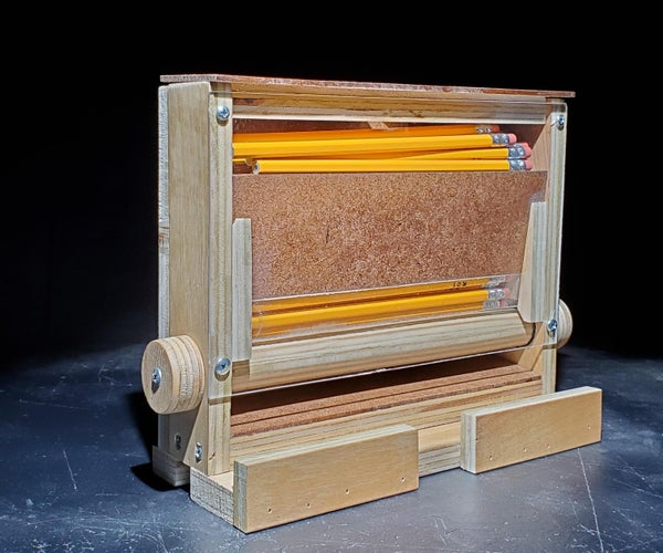 一个胶合板铅笔分配器——一个从傲慢到谦卑的故事