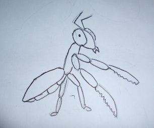How to Draw Gary the Praying Mantis!