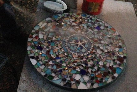 Sea Glass Mosaic Tabletop 10 Steps With Pictures Instructables