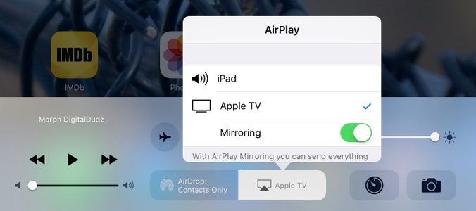 Activate Airplay on Your IPad or IPhone