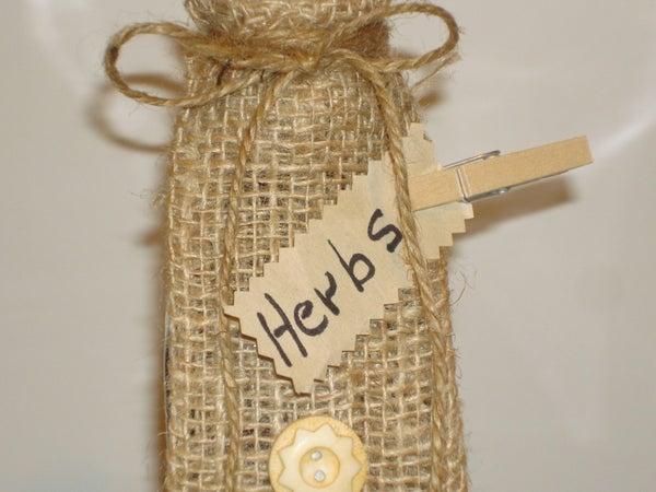 Bottle Gift Wrap for Herbs