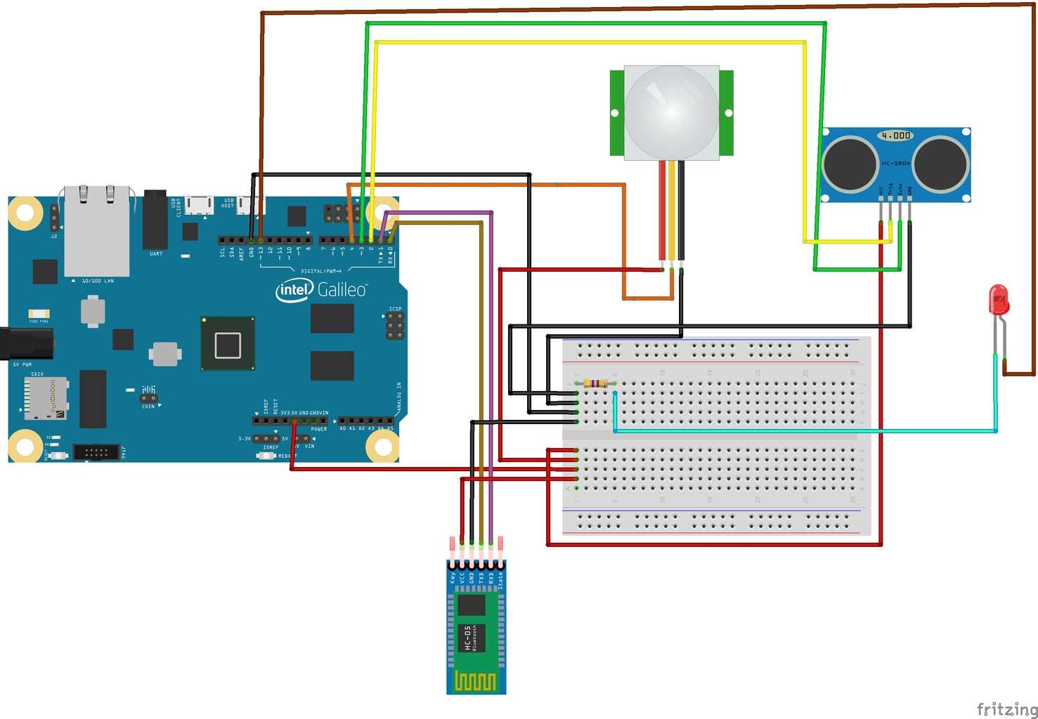 Interfacing Bluetooth Module With Intel Galileo