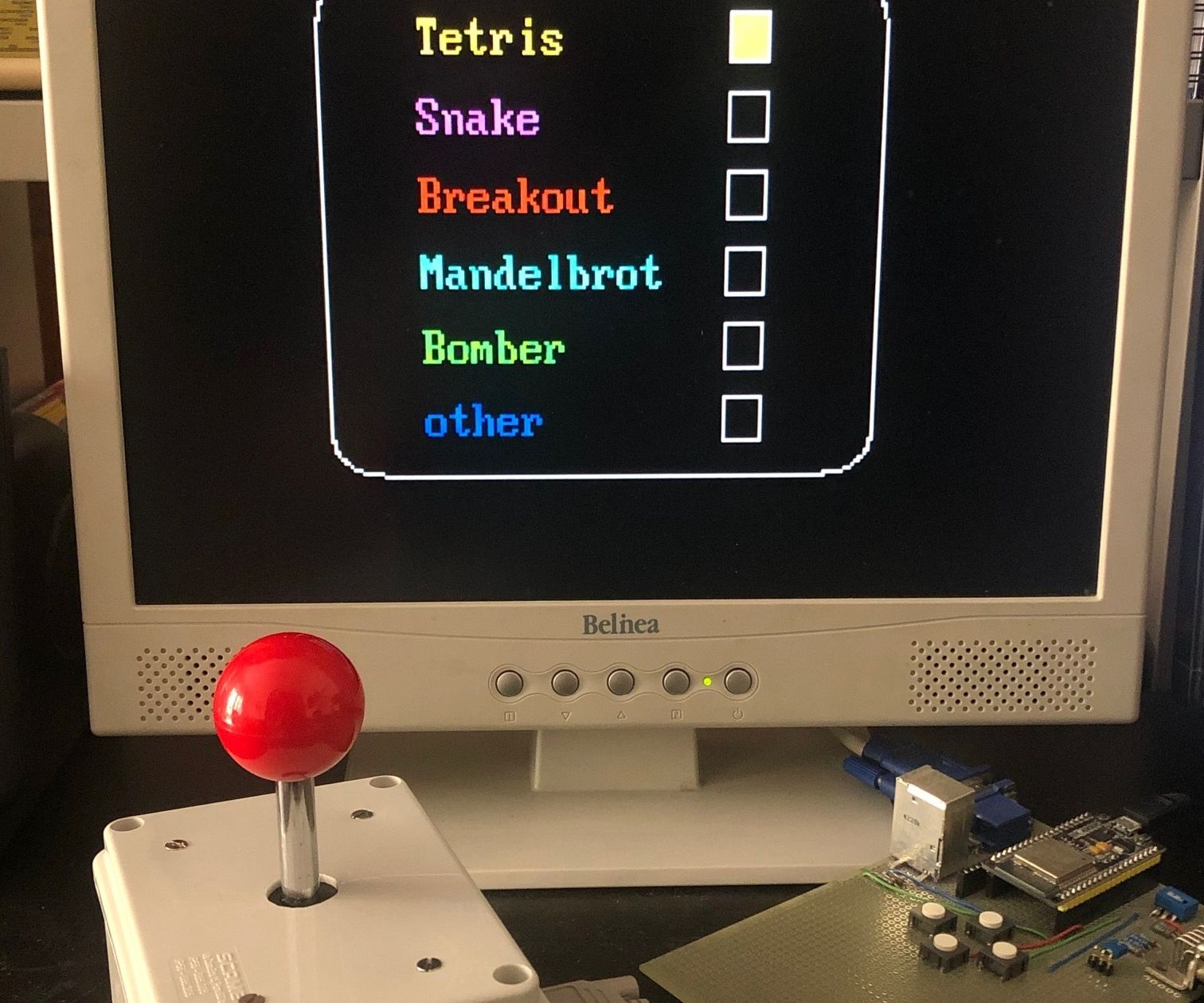 ESP32 VGA Arcade Games and Joystick