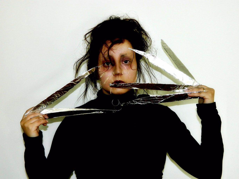 EDWARD SCISSORHANDS Halloween Makeup/costume Tutorial