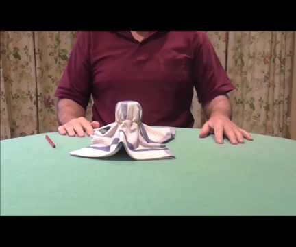 MAGIC TRICK WITH GLASS & HANKERCHIEF