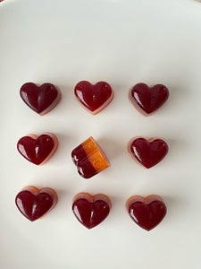 Mulled Wine and Blood Orange Jelly Hearts