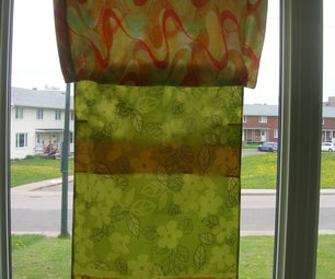 Cheap, No-sewing Funky Curtains