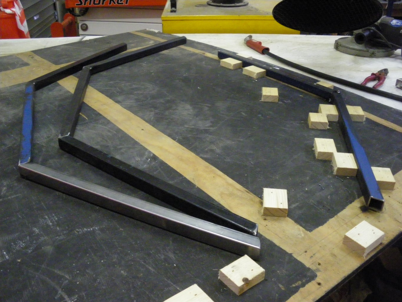 Weld the Base and Metal Drum Supports