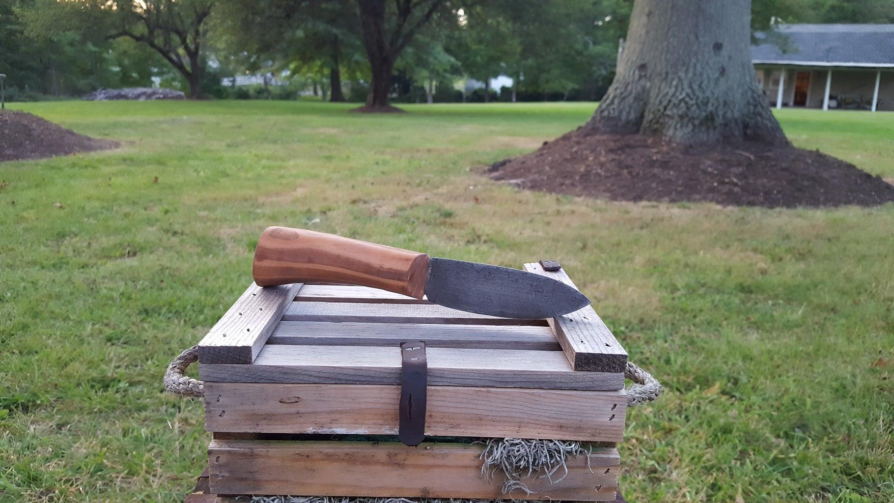 Acid Blackened Custom Hunting Knife
