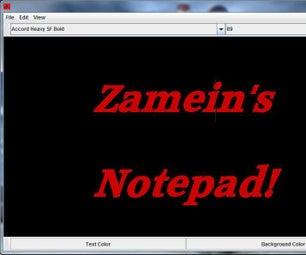 ZAMEIN'S NOTEPAD