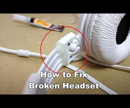 Fix Broken Headphone Band - Superglue Trick