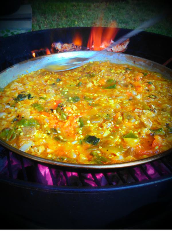 Paella on the Barbecue