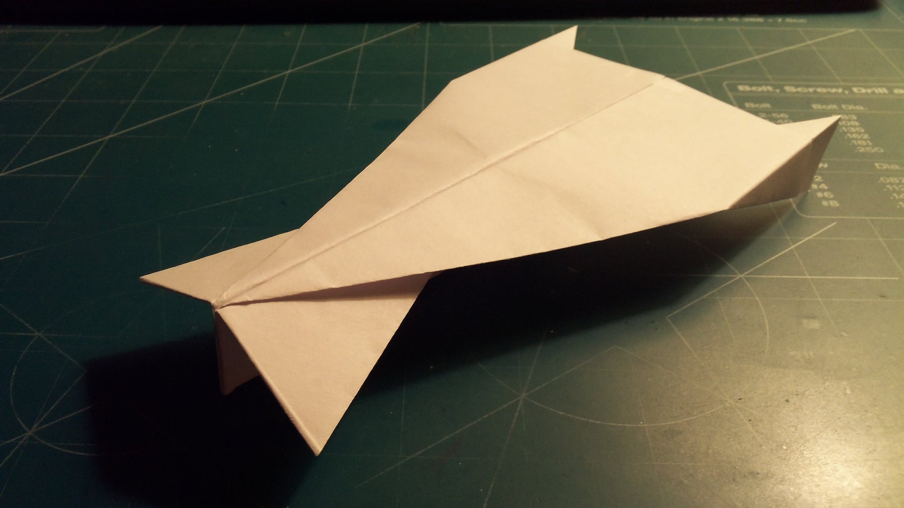 How to Make the Ultraceptor Paper Airplane