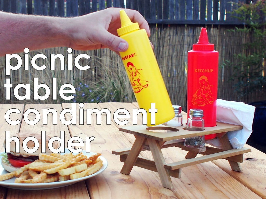 Picnic Table Condiment Holder 11 Steps With Pictures Instructables