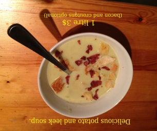Potato and Leek Soup (bacon and Croutons Optional)
