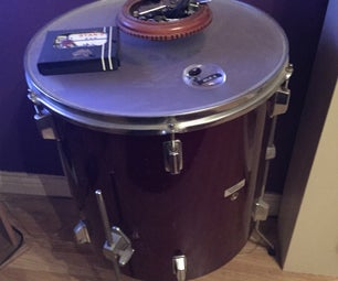 Up Cycle Old Drum Table