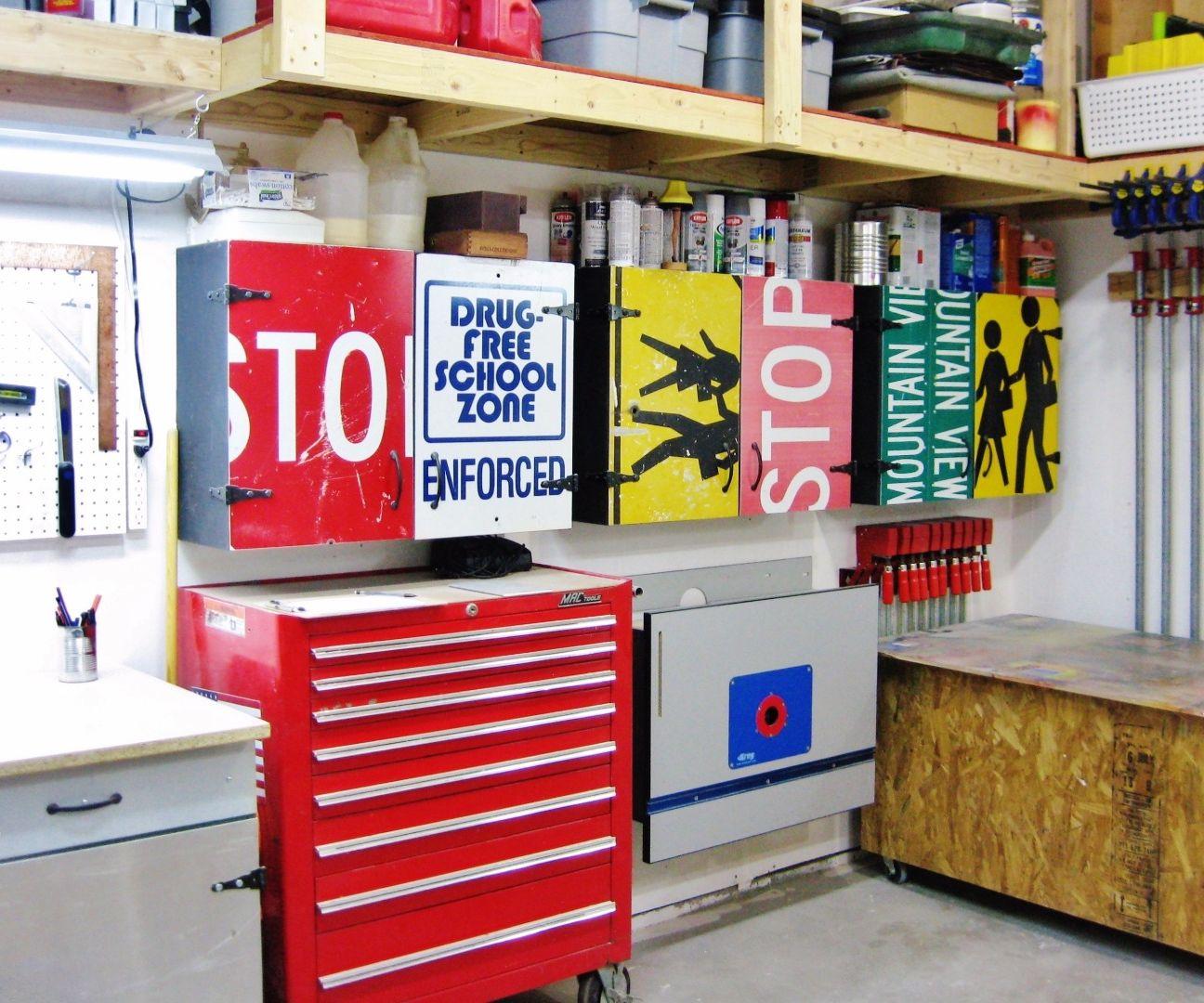 Easy workshop cabinets