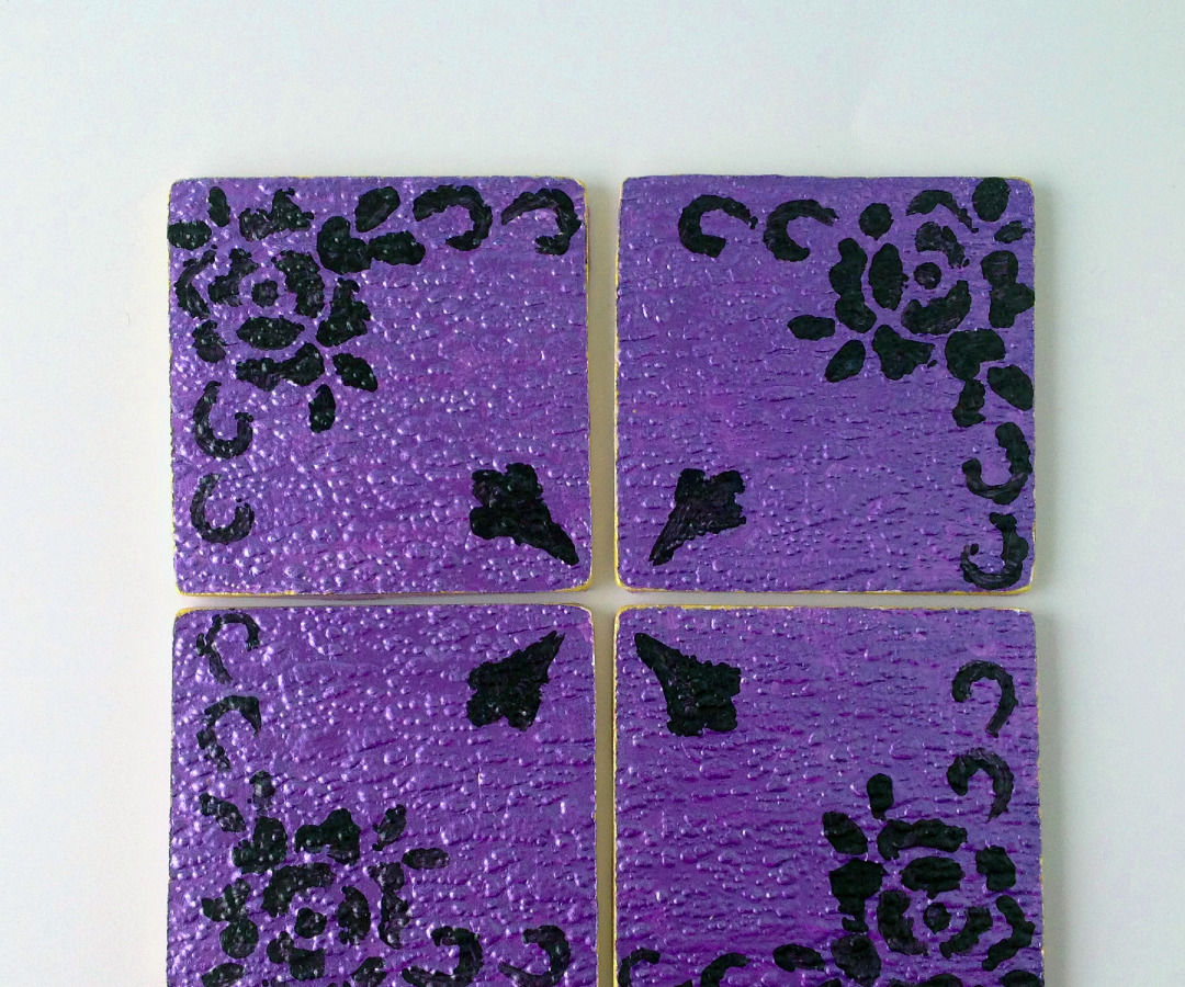 Make These Pretty Coasters from Junk