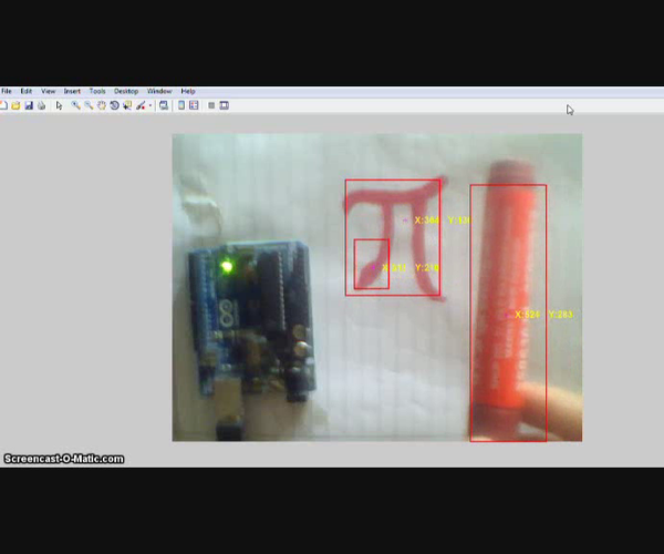 Red Color Recognition Based Arduino Control(Using MATLAB and Arduino)