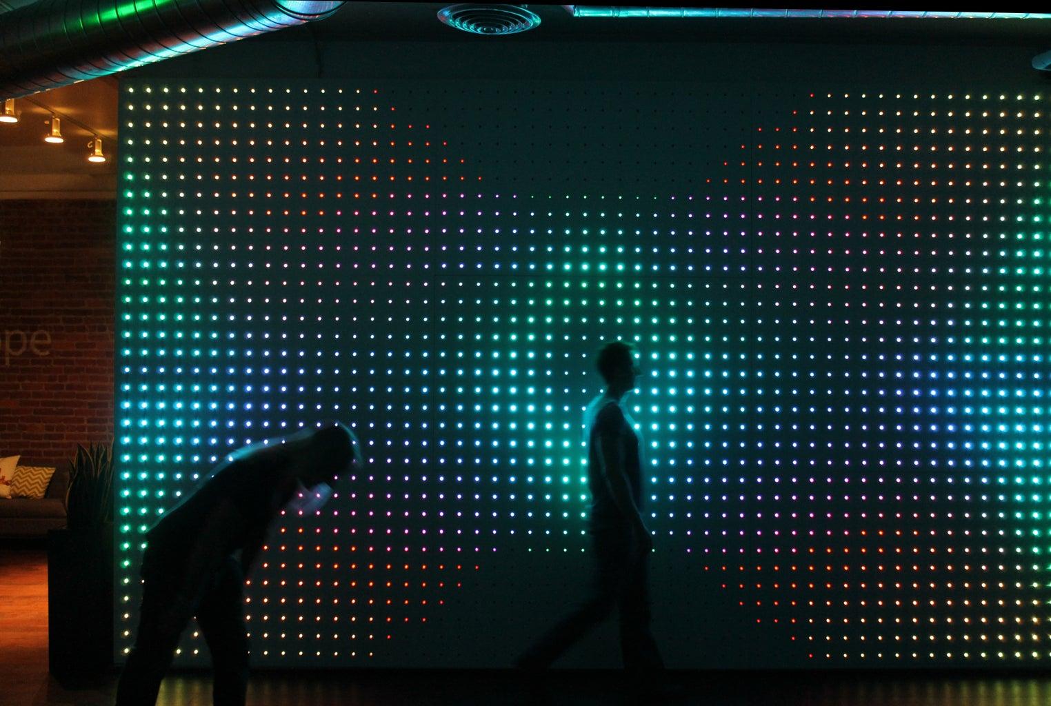 Make an Interactive IPad Controlled LED Wall