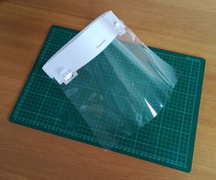DIY Face Shield - Emergency PPE Made Using an A4 Printer and Laminator