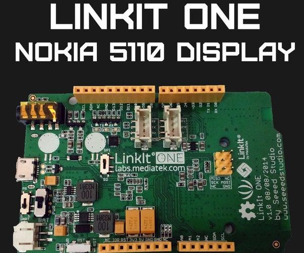 LinkIT ONE Nokia 5110 Display