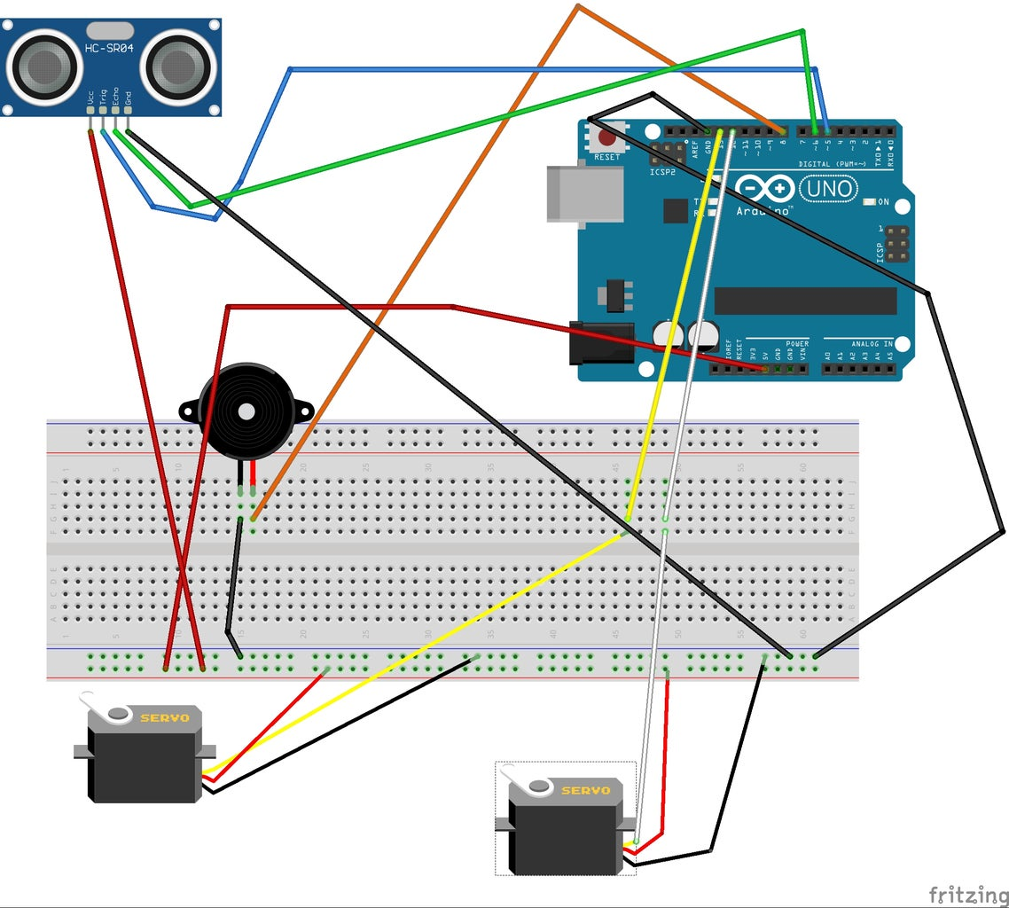 Arduino With Motors and the First Code.
