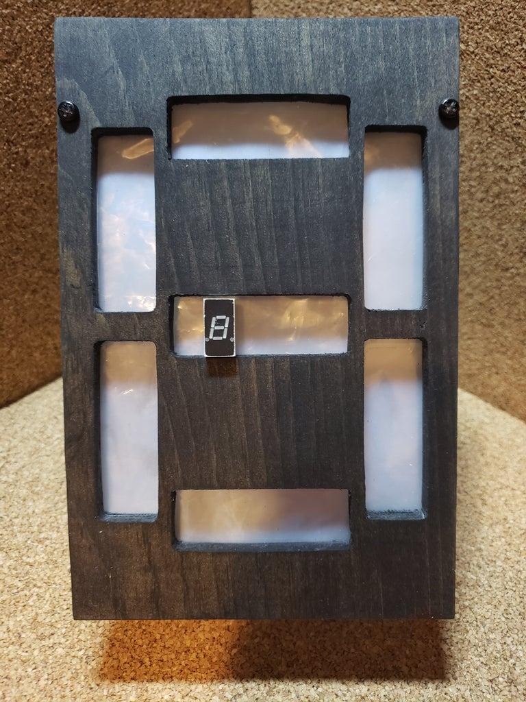 Super-Sized RGB Seven-Segment Display Lamp