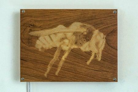 """Bee, Caupolicana Gaullei"" Light Panel Series #1"