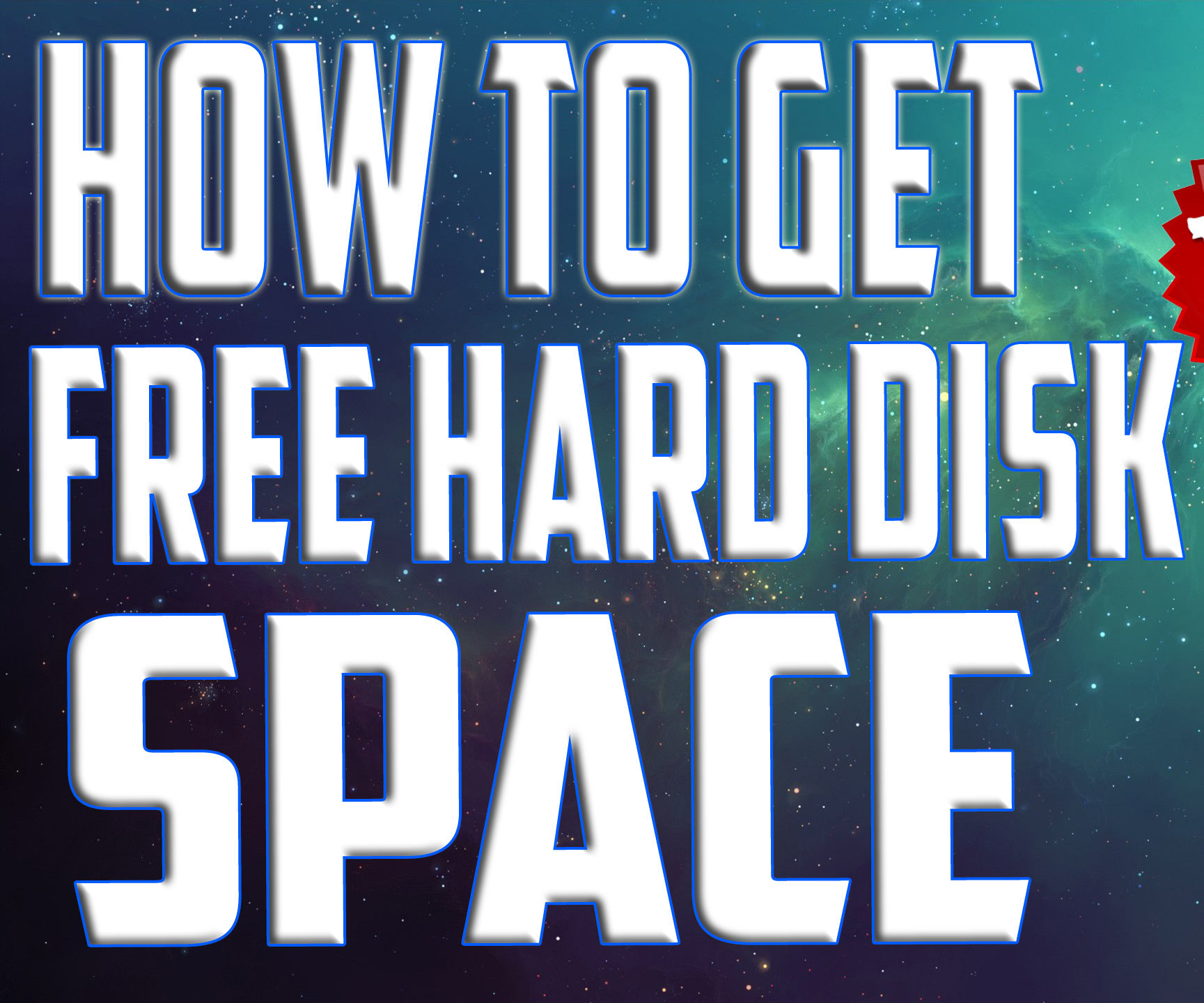 How to get Free Hard Disk space