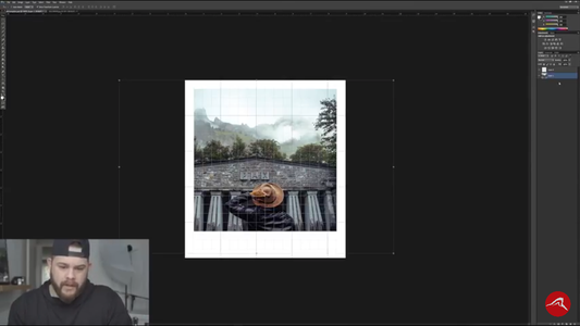 Drag an Image in and Layer It Underneath the The Polaroid Frame You Just Made, Keep Adjusting the Image File Until It Fits in the Frame