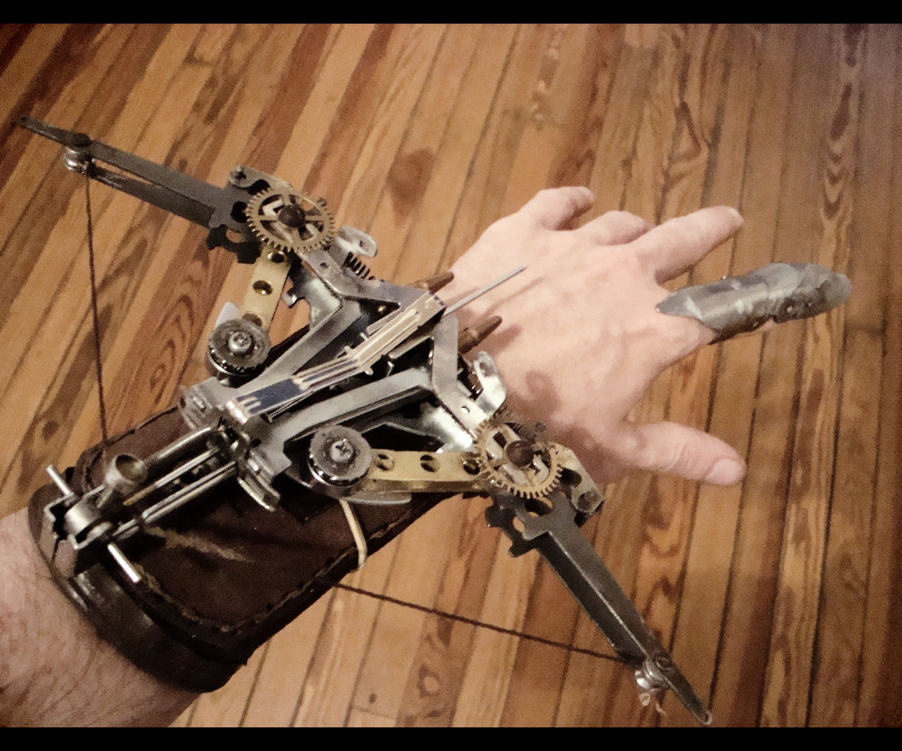 Steampunk Crossbow With Typewriter Parts