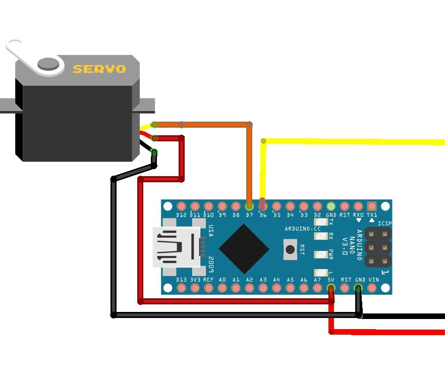 How to Control Servo Motor Using Arduino Nano and Ir Sensor