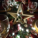 Chritsmas Dinner Table Decorative Stars
