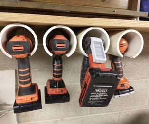 Organizer for Battery Powered Tools