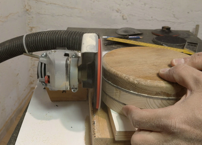 Sanding All of the Circle Block